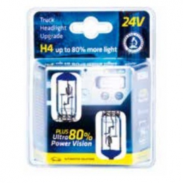 Lámpara H4 24v 75/70w ultra + 80% bl 2un