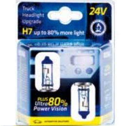 Lámpara H7 24v 70w ultra + 80% bl 2un
