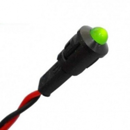 Piloto LED Verde 12v, fijo