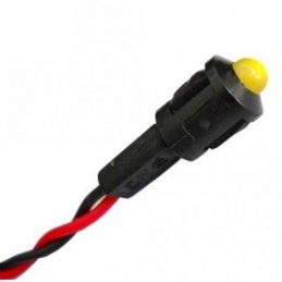 Piloto LED Ámbar 12v, Intermitente