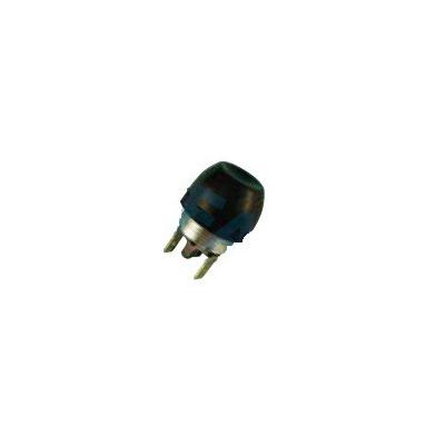 Pulsador capuchón de goma negro , con terminal, Ø 22mm