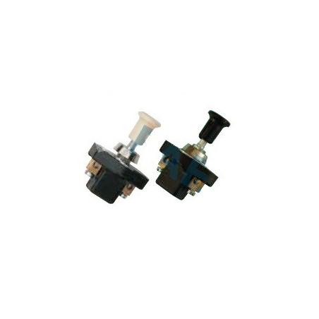 Interruptor tirón, negro, con terminales Ø 8mm