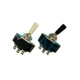 Interruptor palanca, negro,con tuercas, Ø13mm