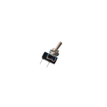 Interruptor palanca cromado, terminales,Ø 12mm