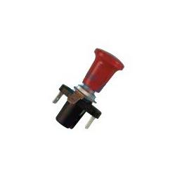 Interruptor tirón rojo, terminales, Ø 10mm