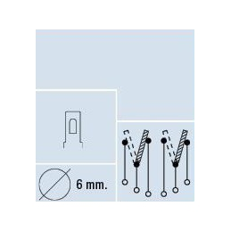 Interruptor cromado, 6 conex 80mm