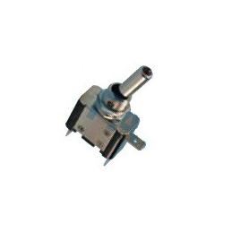 Interruptor palanca cromado c/luz, terminales,Ø 12mm ON-OFF