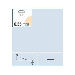 Interruptor universal de alarma . Empujador recortable.