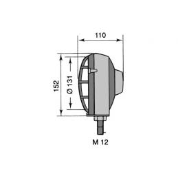 Faro de Trabajo - 12V 55W H3 - Carcasa Plástico