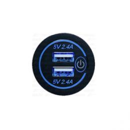 Cargador USB 2 tomas 2,4A+2,4A