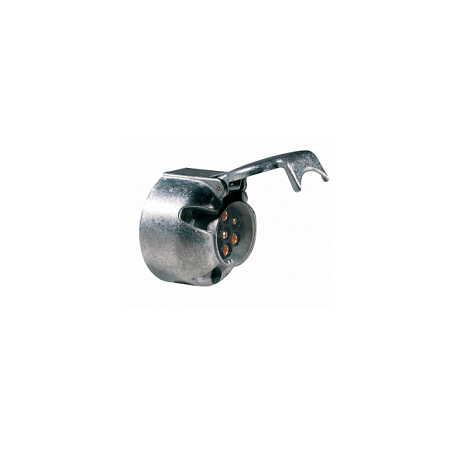 Base 7 Polos 12V/N en Aluminio ISO 1724 con Contactos de Tornillo