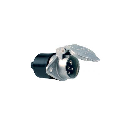 Base 7 polos 24V/N ISO 1185 en aluminio con Contactos de Tornillo