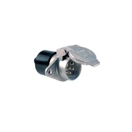 Base 7 polos 24V/S ISO 3731 en aluminio con Contactos de Tornillo