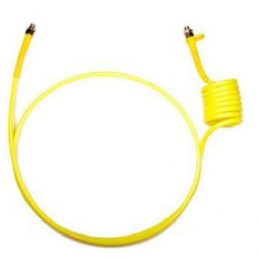 Espiral 2 metros Poliuretano boquilla 16 amarilla