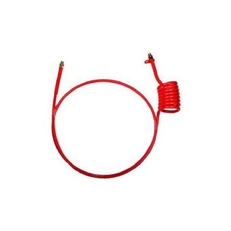 Espiral 2 metros Poliuretano boquilla 16 roja