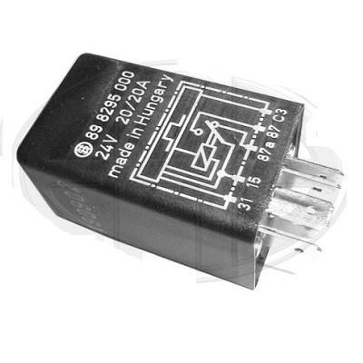 Relé Señales 24v. 20/20A 5 Conectores