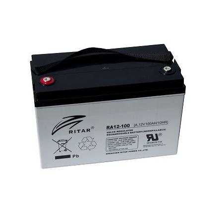 Batería Cíclica RITAR RA12-100 - 12v 328x172x222