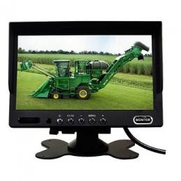 """Monitor de 7"""" Con 2 Entradas de Video + Cámara Visión Nocturna + Cableado 15m Con Conectores a Prueba de Agua (4 Pines)"""